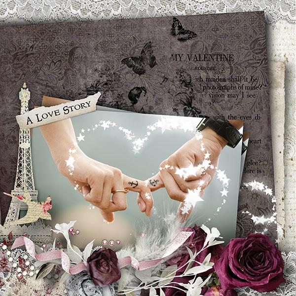 Valentine's Day Inspiration Layout True Love