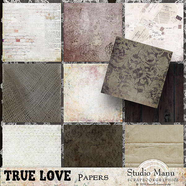 True Love valentine's day backgrounds scrapbook