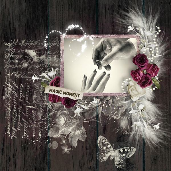 Valentine's Day Inspiration Layout by Tracey - Stamps