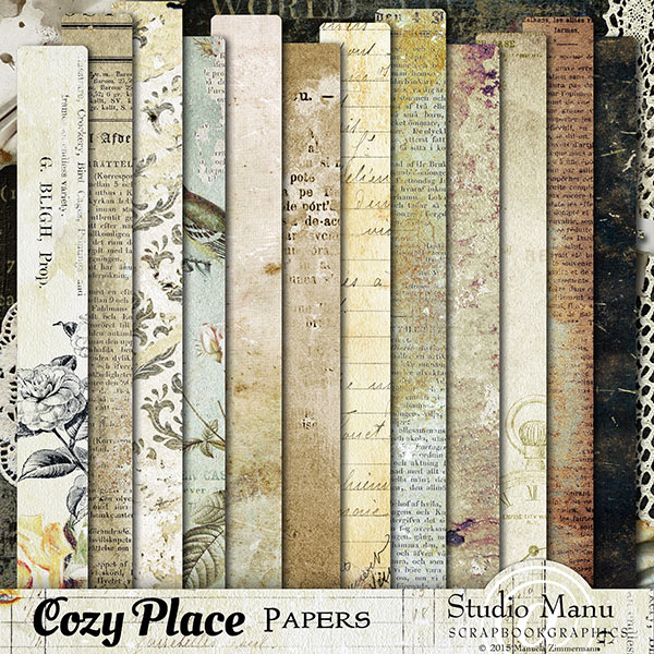 Cozy place digital scrapbooking page kit