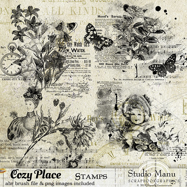 Cozy Place Stamps Brushes