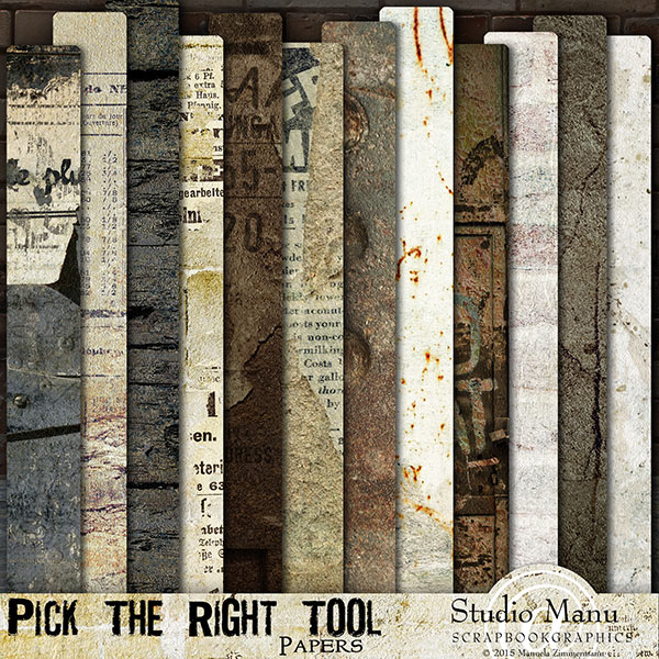 Pick the right tool papers masculine scrapbook backgrounds