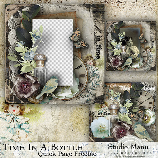Time In A bottle - Freebie Quick Page
