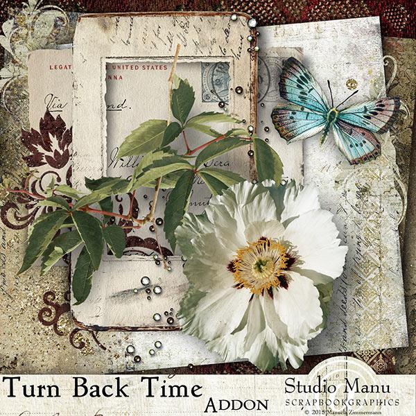 Turn Back Time Freebie Page Kit