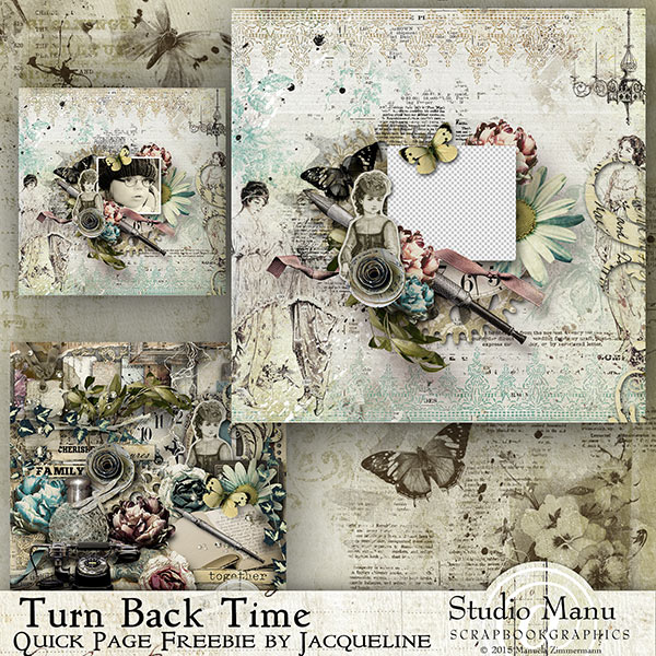 Turn Back Time Quick Page Freebie