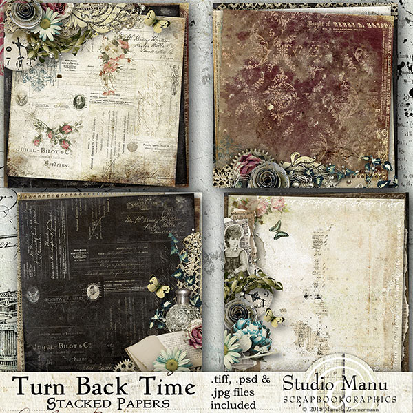 Turn Back The Time - Stacked Papers