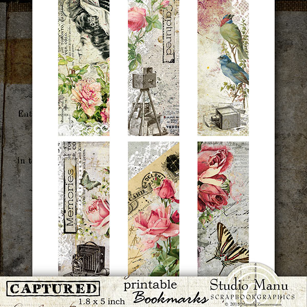 Vintage Bookmarks Printabel