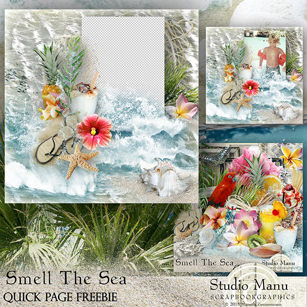 Smell The Sea Quick Page Freebie