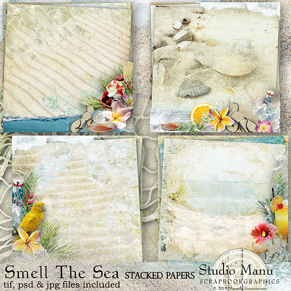 Smell The Sea - Stacked Papers