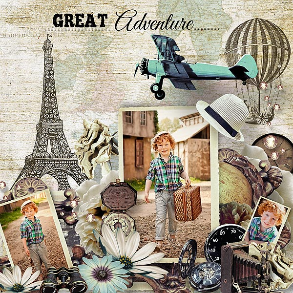 Travel Scrapbook Inspiration Page by Irene