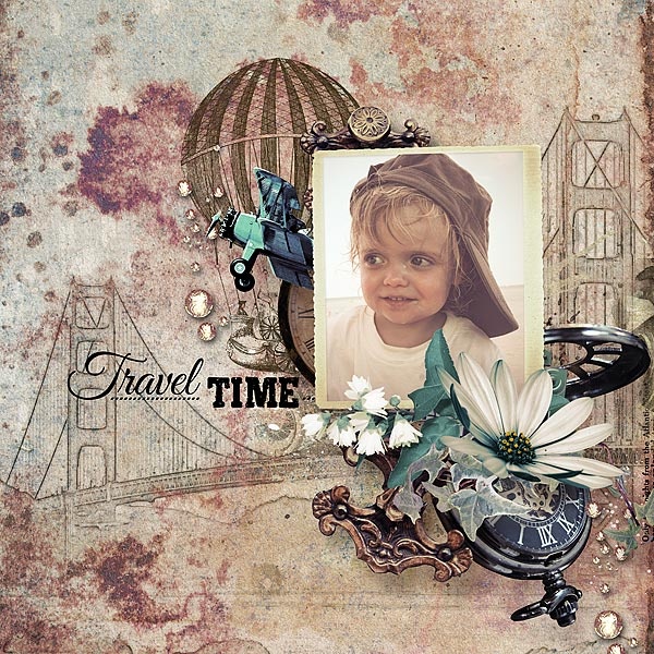 Travel Scrapbook Inspiration Page by Jacqueline