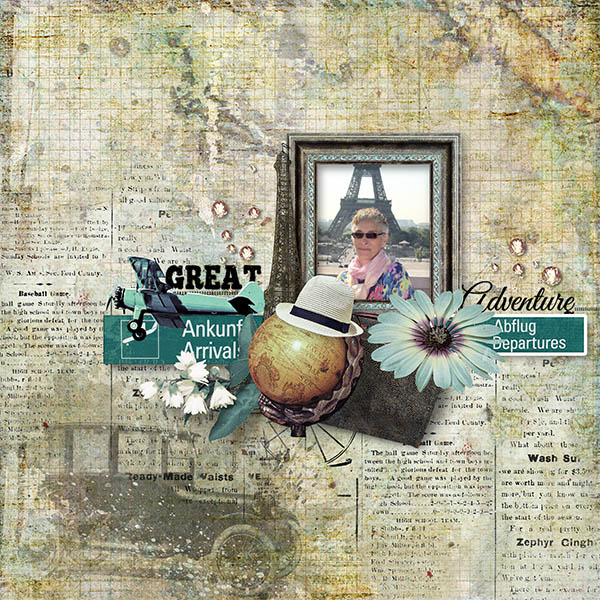 Travel Scrapbook Inspiration Page by Julie