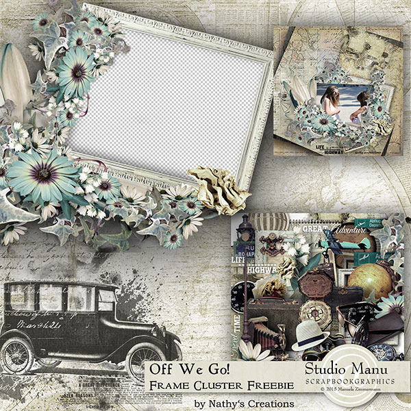 Travel Frame Cluster Freebie by Nathy