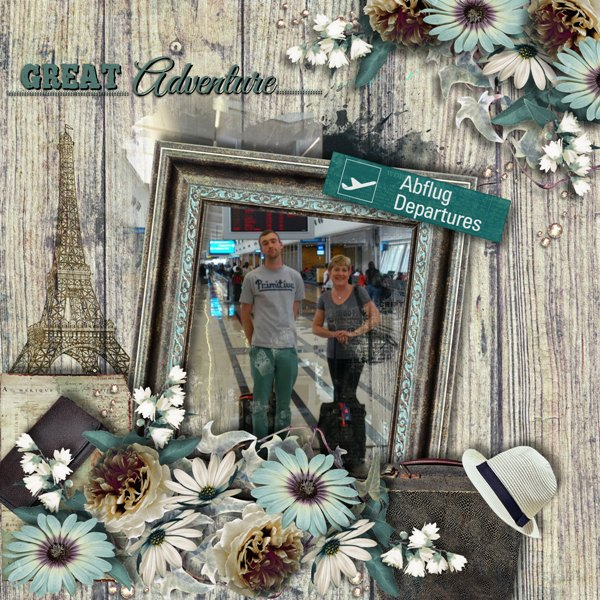 Travel Scrapbook Inspiration Page by Tracey