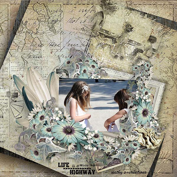 Travel Scrapbook Inspiration Page by Nathy