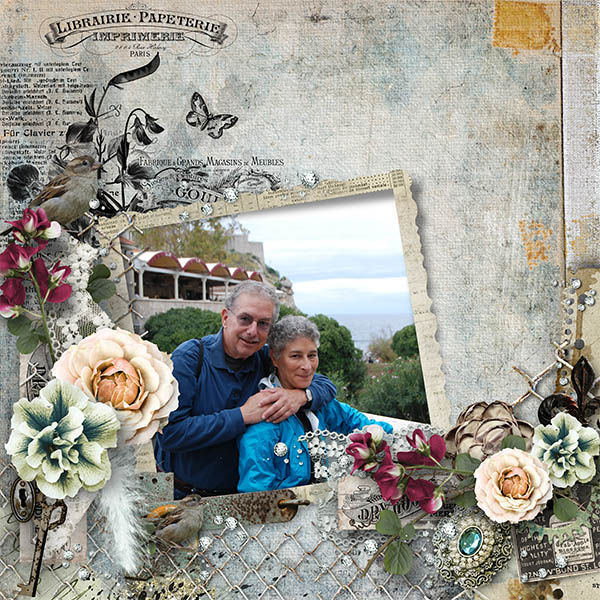 Beautiful Past Vintage Page by Julie