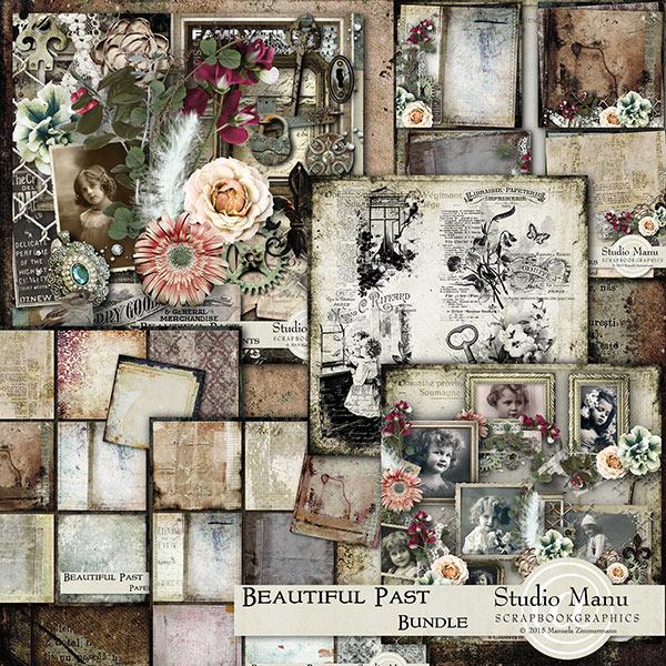 Beautiful Past Digital Scrapbook Collection
