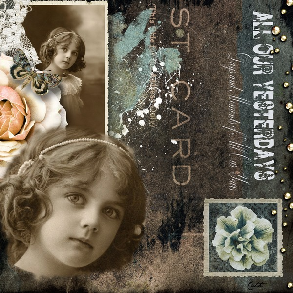 heritage Scrapbooking Layout by Cath