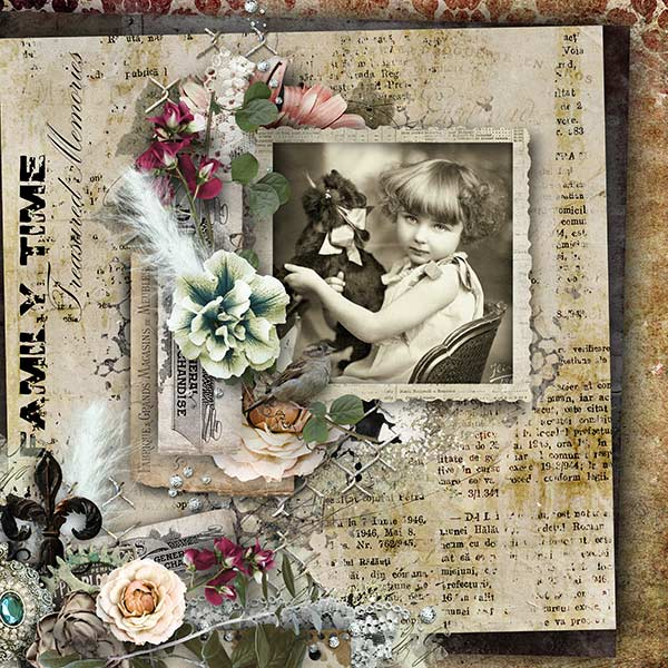 Sample Inspiration Vintage Layout