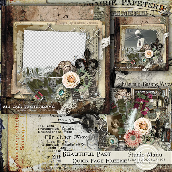 Digital scrapbooking freebie quick page
