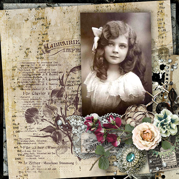 beautiful past inspiration scrapbook layout