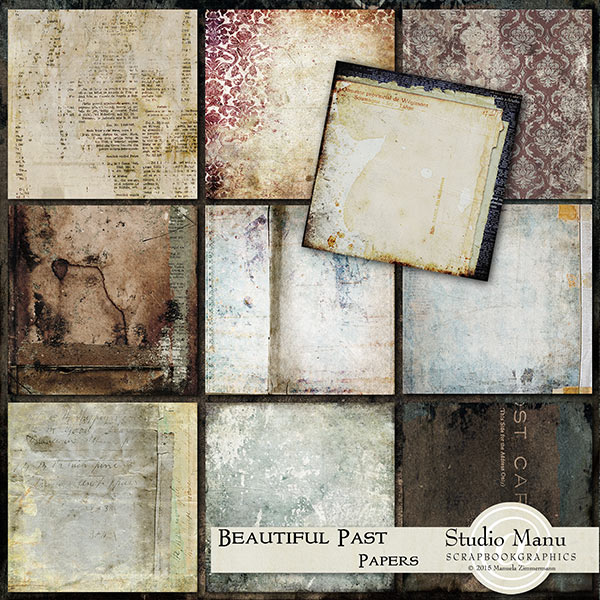 Beautiful Past Vintage Grunge Background Papers