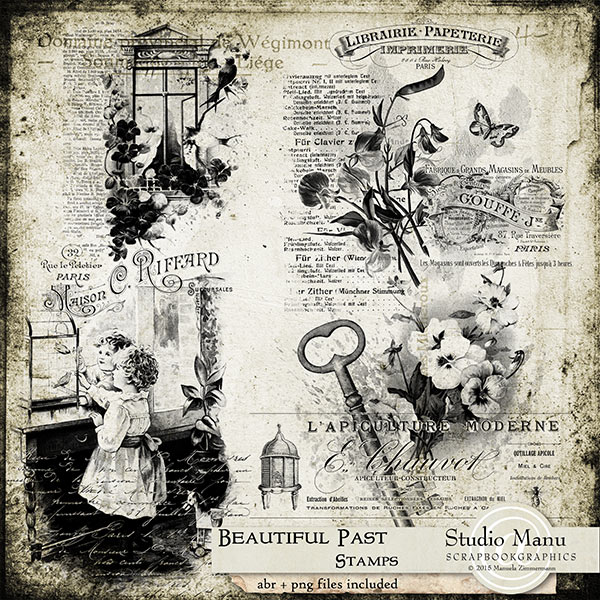 Beautiful Past Stamps / Brushes