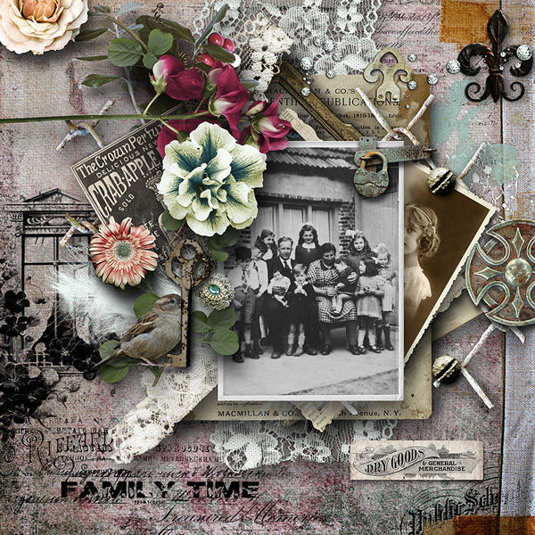 Heritage Scrapbook Layout by Yvonne