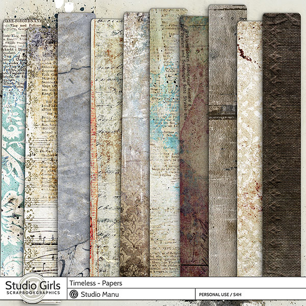 Timeless Digital Scrapbooking Papers