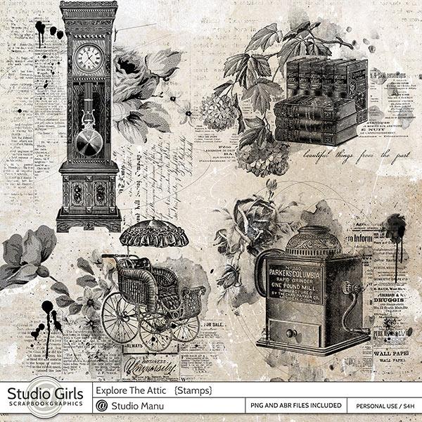Explore The Attic - Stamps