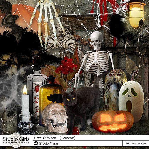 Halloween Digital Scrapbooking Elements