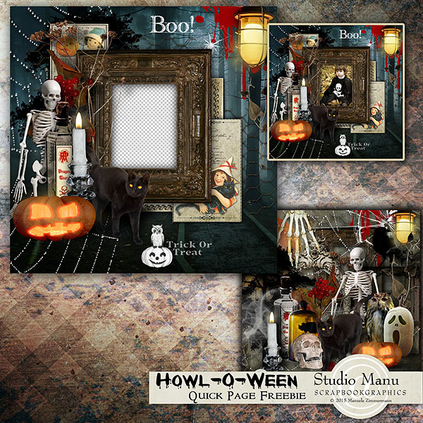 Halloween QUick Page Freebie