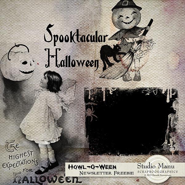Halloween Digital Scrapbooking Freebie