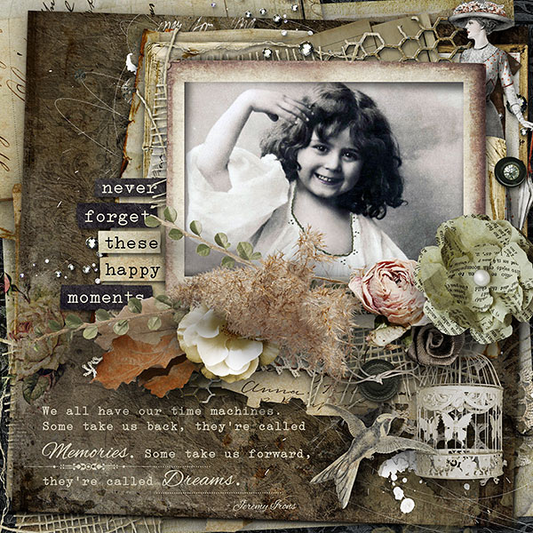 Inspiration Scrapbook Page
