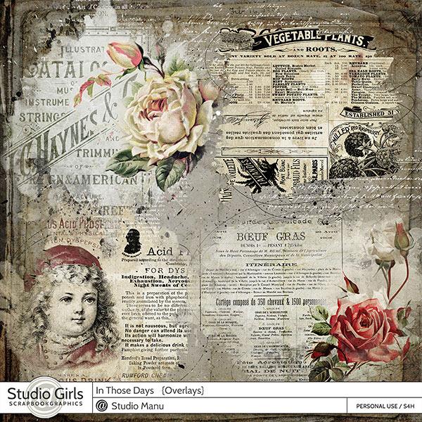 Vintage Digital Scrapbook Overlays