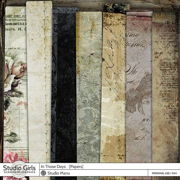 Vintage Digital Scrapbook Papers