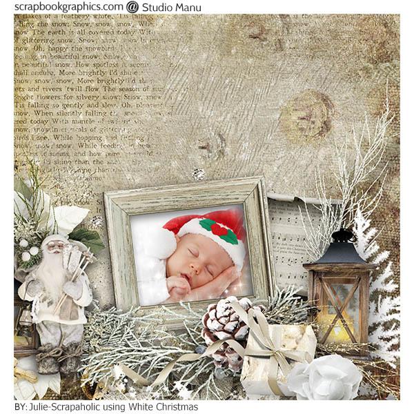 Christmas Scrapbook Inspiration Page