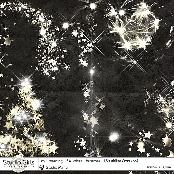 Dreaming Of A White Christmas Sparkling Overlays