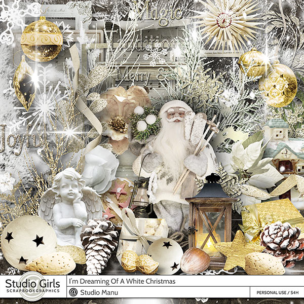 Dreaming Of A White Christmas Page Kit