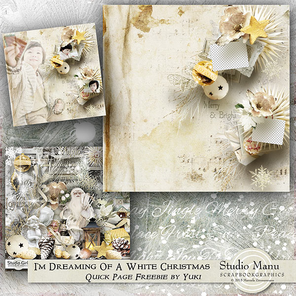I'm Dreaming Of A White Christmas - Freebie Quick Page