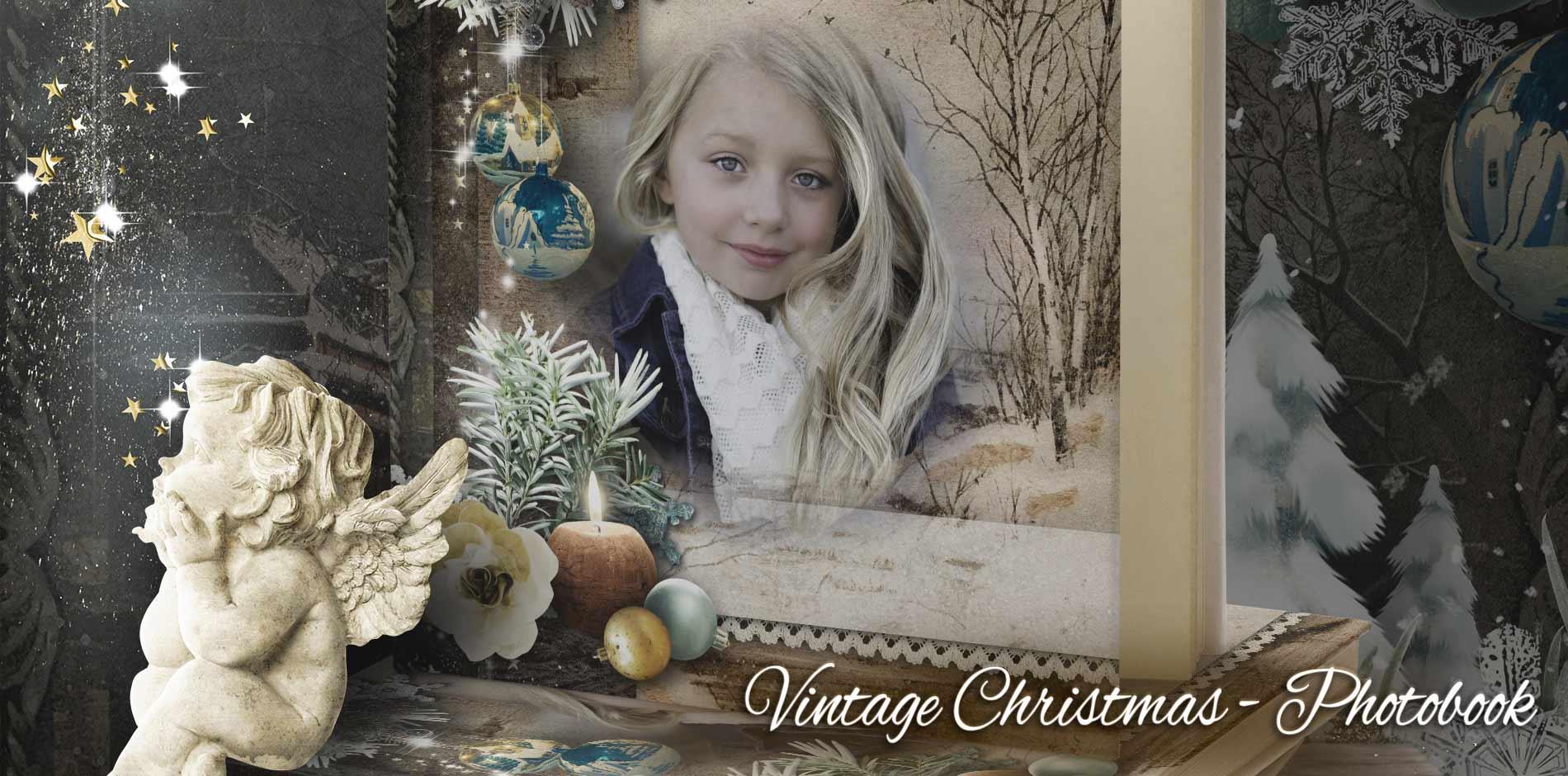 Vintage Christmas photobook - Header