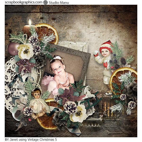 Vintage Christmas Inspiration Layout