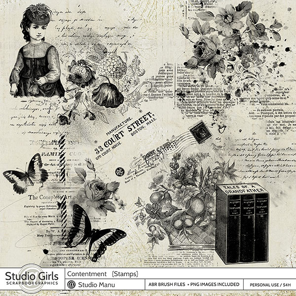 digital scrapbooking Stamps and Brushes