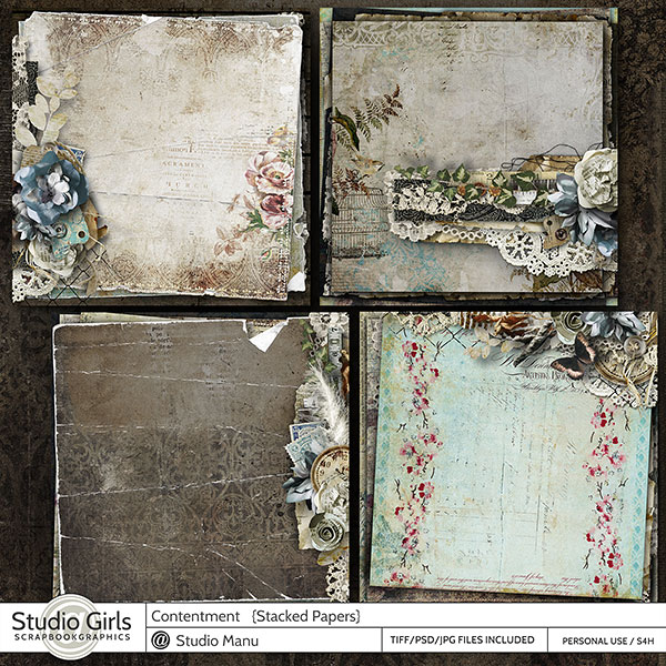 digital scrapbooking Stacked Papers