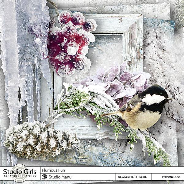 Digital Scrapbooking Winter Freebie
