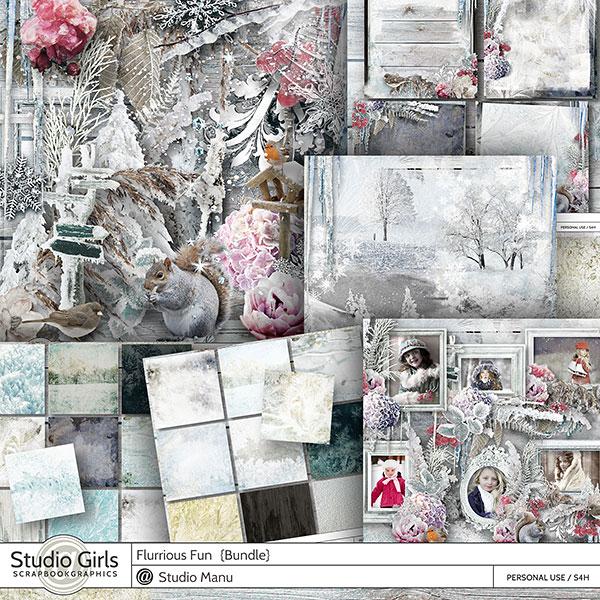 Digital Scrapbooking Winter Collection