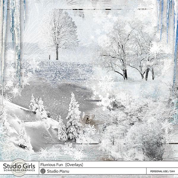 Digital Scrapbooking Winter Overlays