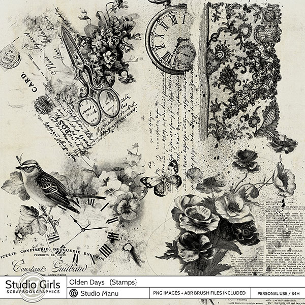 Stamps and Brushes Olden Days