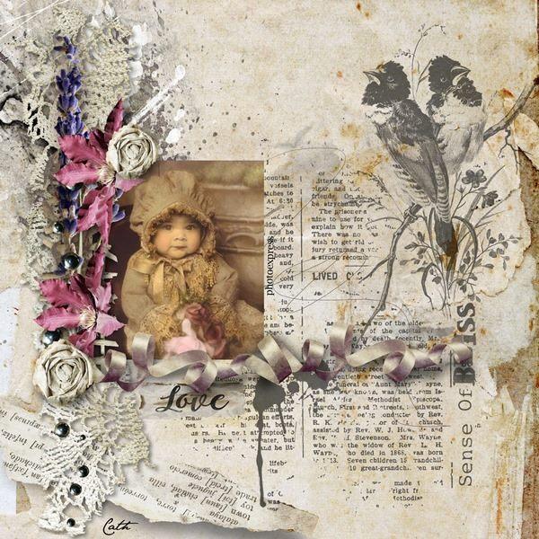 Vintage Digital Scrapbooking Inspiration