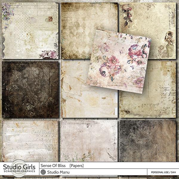 Vintage Scrapbooking Papers